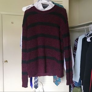 3/$15 Burgundy Striped Sweater